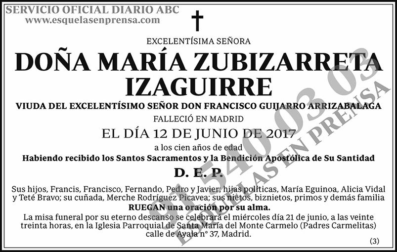 María Zubizarreta Izaguirre